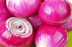 czerwony obrana cebuli Zdjęcie Stock