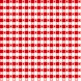czerwony obrus bezszwowy wzoru Fotografia Stock