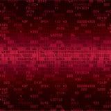 Czerwony ochrony tło z kodem ilustracji