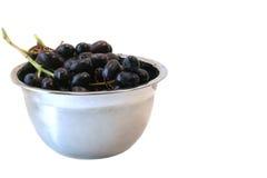 czerwony odizolowana misek winogron Zdjęcia Royalty Free