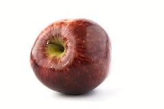 czerwony odosobnione white jabłko Fotografia Royalty Free