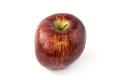 czerwony odosobnione white jabłko Zdjęcia Royalty Free