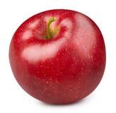 czerwony odosobnione white jab?ko fotografia stock
