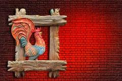 Czerwony ognisty koguta abstrakt Zdjęcie Stock