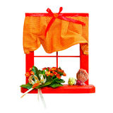 czerwony okno Fotografia Stock