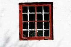 czerwony okno Obraz Royalty Free