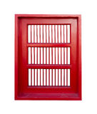 Czerwony okno w tajlandzkiej świątyni Obrazy Stock