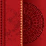 Czerwony orientalny grunge henny mandala tło Zdjęcia Stock