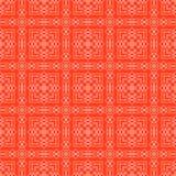 Czerwony Ornamentacyjny Bezszwowy linia wzór Obraz Royalty Free