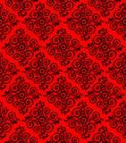 Czerwony ornamentacyjny wzór, tło lub tekstura, Obraz Royalty Free