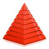 Czerwony ostrosłupa projekta element Obraz Stock