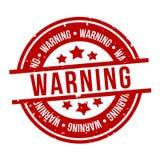 Czerwony ostrze?enie znaczek Eps10 wektoru odznaka royalty ilustracja