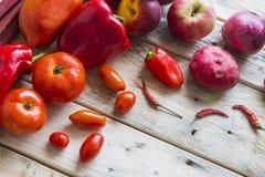 Czerwony owoc i veg wybór Obrazy Stock