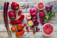 Czerwony owoc i warzywo Obraz Royalty Free