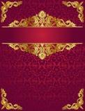 Czerwony ozdobny tło Zdjęcia Royalty Free