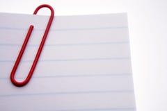 czerwony papier spinacz papieru Obrazy Stock