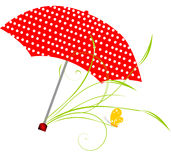 czerwony parasol Zdjęcia Stock