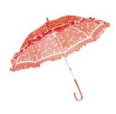 czerwony parasol Obraz Royalty Free