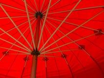 czerwony parasol Fotografia Stock