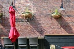 czerwony parasol Obrazy Stock
