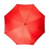 Czerwony parasol, odosobniony biały tło Fotografia Royalty Free
