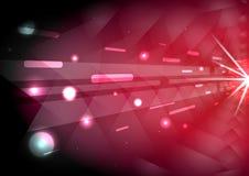 Czerwony pasi łuny światła abstrakta tło Obraz Royalty Free