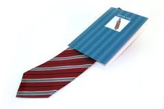 czerwony paska krawata biel Zdjęcie Royalty Free