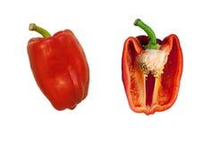 czerwony pepper white Fotografia Royalty Free