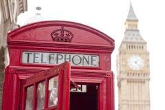Czerwony phonebox Obrazy Stock