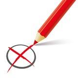 Czerwony pióra głosowanie Fotografia Royalty Free
