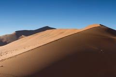 Czerwony piasek diuny Duży ojczulek Obraz Stock