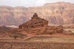 Czerwony piasek kołysa w Timna parku, Izrael Obraz Royalty Free