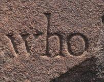 Czerwony piaskowiec z inskrypcją - tło Obraz Royalty Free