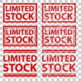 Czerwony pieczątka skutek, limitowany zapas przy przejrzystym skutka tłem, Obrazy Stock