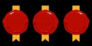 czerwony pieczęć wosk ilustracja wektor