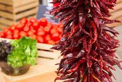Czerwony pieprz suchy Fotografia Stock