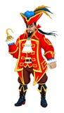 Czerwony pirat z haczykami Zdjęcie Stock