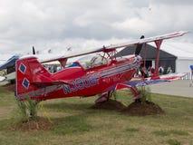 Czerwony Pitts S-2C samolot Fotografia Stock