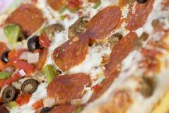 czerwony pizzy najwyższy wino Zdjęcia Royalty Free