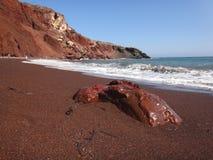 czerwony plażowa Fotografia Stock