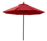 Czerwony plażowy parasol Zdjęcie Royalty Free