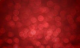 Czerwony plamy bokeh backround Obrazy Royalty Free