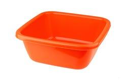 Czerwony plastikowy basen Zdjęcia Stock