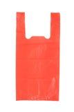 Czerwony Plastikowy Worek Obrazy Stock