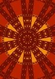 czerwony plemienne okręgu wzoru Obraz Royalty Free