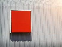 Czerwony plenerowy reklamowego billboardu Mockup szablon Obraz Stock