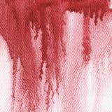 Czerwony pluśnięcie, akwareli abstrakcjonistyczna ręka malował ilustrację Obrazy Stock