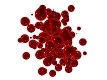 czerwony plusk ilustracja wektor