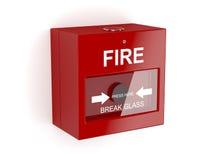 Czerwony pożarniczy alarm Zdjęcie Royalty Free