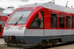 czerwony pociąg Zdjęcia Stock